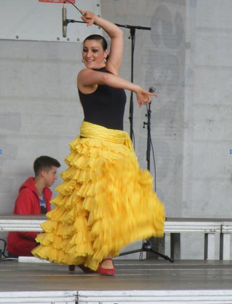 Ateleier de flamenco in Piata Unirii cu Almudena Bonilla